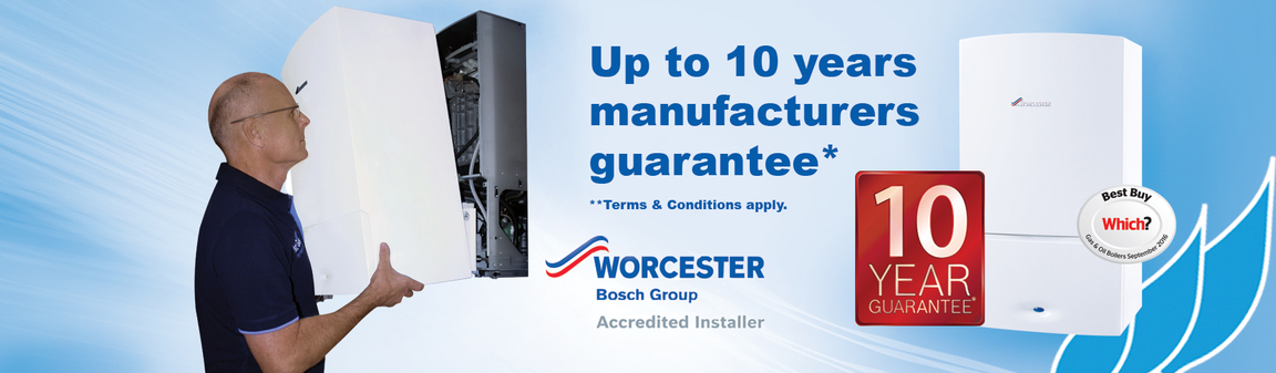 10 year finance options available on Worcester Bosch boiler installations